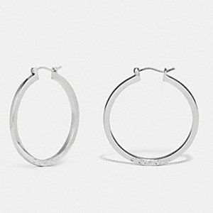🌻 Coach F73022 Hoop Earrings Silver 🌻